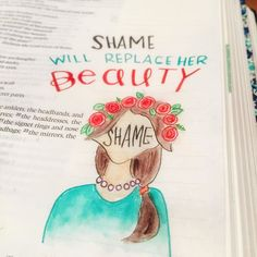 For those that f you who want to draw #crowngirls but don't like the blank face I have the verse for you... Isaiah 3:24 in the nlt translation says #script will replace her #beauty so I came up with this option.  #illustratedfaith #bibleart #biblejournaling #journalingbible #journaledjourney #journalingbiblecommunity #bible #biblejournalingcommunity #handtype #handlettered #handmadefont #handlettering #togetherweletter #typelove #typography #type #crowngirl #creative http://ift.tt/1KAavV3