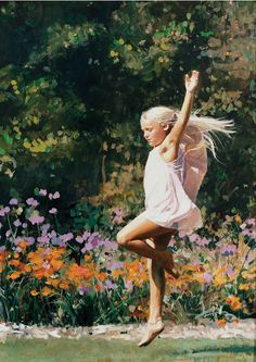 Happy #Spring!  Enjoy this gorgeous oil portrait of a girl to kick off the new season.