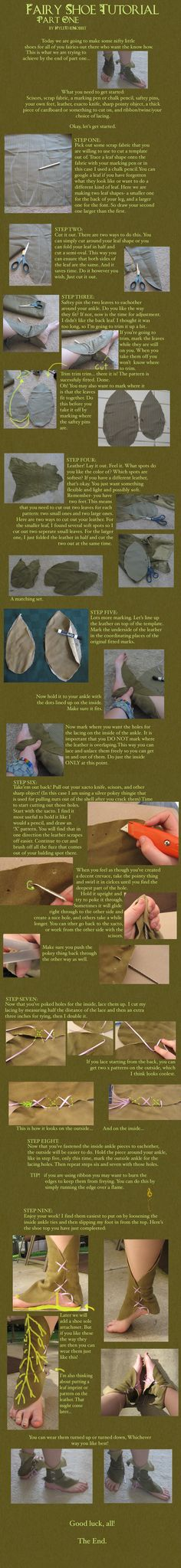 Fairy Shoe Tutorial: Part 1 by KyleTheHobbit