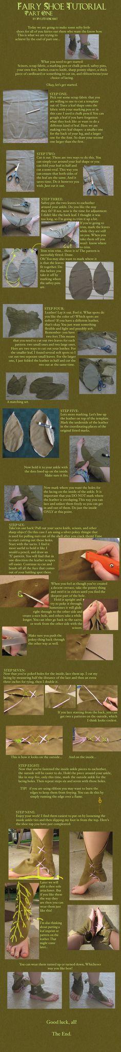 Fairy Shoe Tutorial: Part 1 by KyleTheHobbit