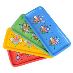 Millefiori Tray Set Of 4  by Karma Living