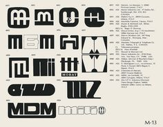 M-13 / World of Logotypes