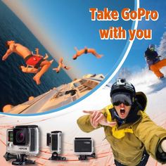 We use GoPro ourselves and love it Ads Creative, Gopro, Outdoor Living, Social Media, Movie Posters, Outdoor Life, Film Poster, Popcorn Posters, Social Networks