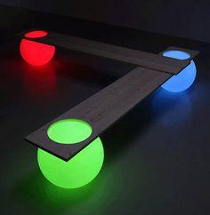 Futuristic Glowing Bench Design