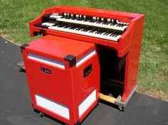 Excellent job - red Hammond organ and Leslie speaker