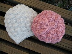 Ravelry: Project Gallery for Basket-Weave Baby Hat pattern by Carole Barenys