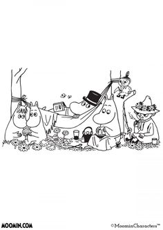 Moomin Inspiration coloring pages- Moomin Moomin Tattoo, Little My Moomin, Les Moomins, Moomin Valley, Tove Jansson, Rainbow Butterfly, Colouring Pages, Anime Comics, Embroidery Patterns