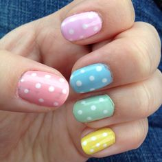 My pastel Easter egg nails :D