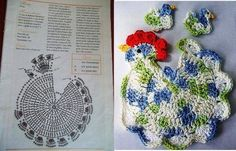 Cute chicken potholders.
