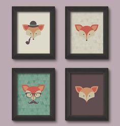 Quadrinhos de raposinhas da Miss Mandee