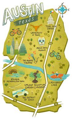 Sara Wasserboehr - Map of Austin Texas More
