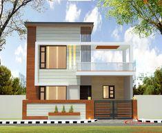 House Front Wall Design, Village House Design, Duplex House Design, Indian Home Design, Kerala House Design, Modern Small House Design, Minimalist House Design, House Elevation, Front Elevation