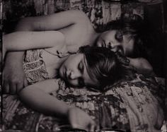 Siblings, by Deborah Parkin, 2012.  Deborah Parkin is a photographer based in rural Northumberland, UK. Deborah has always been fascinated with childhood. In her series Stillness in Time she wanted to photograph children using the wet plate collodion process – a process that requires stillness, the antithesis to the frantic, sometimes pressurized world these children live in. She wanted to record moments of stillness and disengagement from their immediate world.