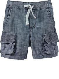 $16.94 Chambray Cargo Shorts for Baby