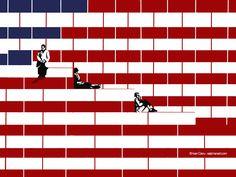 © Ivan Canu for salzmanart.com Tribute to Doisneau US election day 2016 #editorial #illustration #uselectionday #politics #flag #starsandstripes #conceptual #doisneau #photocult