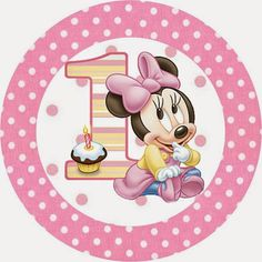 Minnie First Year with Polka Dots: Free Printable Candy Bar Labels. Minnie Mouse 1st Birthday, Mickey Minnie Mouse, Baby Birthday, Mickey Mouse E Amigos, Mickey Mouse And Friends, Theme Mickey, Mickey Party, Baby Mouse, Mini Mouse