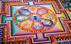 Sand Mandala is practiced by Tibetan monks as a part of tantric tradition. Description from 4rtgallery.blogspot.com. I searched for this on bing.com/images