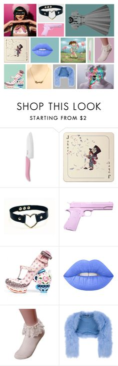 """Mad Hatter #3"" by kimberly-pera ❤ liked on Polyvore featuring Kyocera, Avenida Home, L'ÉCLAIREUR, Irregular Choice, Lime Crime and Alexander McQueen"