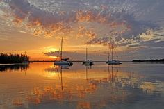 Tranquility Bay - Florida Sunrise Photograph by HH Photography of Florida