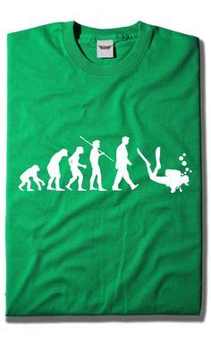 Camisetas Evolución Buceo
