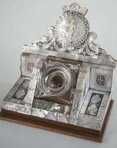 Mother of Pearl Inkstand