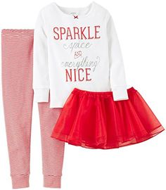 Carters 3 Piece Holiday PJ Set Baby  Sparkle24 Months -- Details can be found by clicking on the image.
