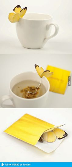 Butterfly Tea Bag..Not a fan of tea but i would buy this and try it just for the hell of it!