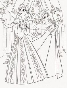 Elsa Und Anna Ausmalbilder 01 Mandala Pinterest Frozen