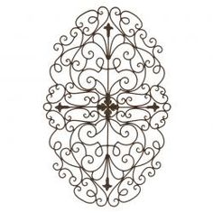 Tuscan Metal Wall Art tuscan wrought iron metal 32'' scroll wall grille-cheap chic decor
