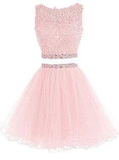 WiWiBridal 2017 Women's Two Piece Prom Dress Short Beading Homecoming Dresses For Juniors Dama Dresses, Cute Prom Dresses, Quince Dresses, Grad Dresses, 15 Dresses, Elegant Dresses, Homecoming Dresses, Sexy Dresses, Casual Dresses