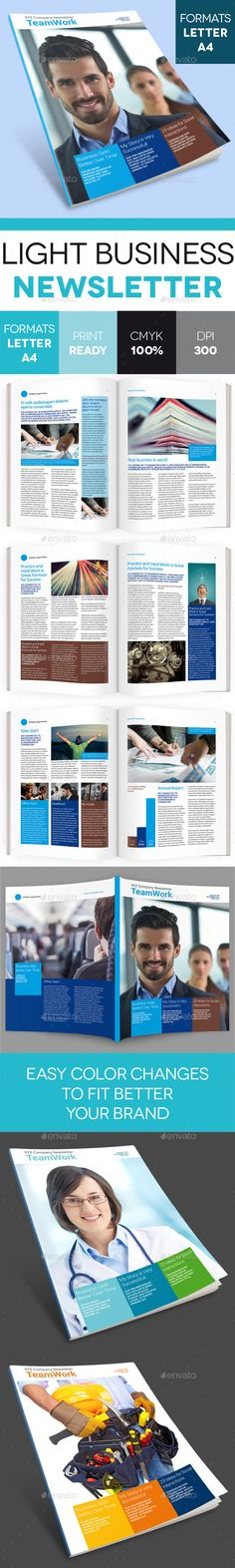 Light Business Newsletter - Newsletters Print Templates Download here : https://graphicriver.net/item/light-business-newsletter/9211959?s_rank=253&ref=Al-fatih