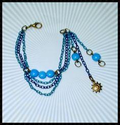 El Secreto Encanto De La Diva -  Amazing bracelet with the colors of the sky. One of the kind for exclusive and unique women