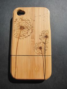 Bamboo Iphone case laser engraved by Creative Use of Technology www.creativeuseoftechnology.com