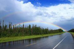 Rainbow Near Rocky Mountain House
