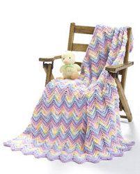 Ripple Baby Blanket Pastel   AllFreeCrochet.com