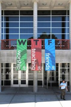 I've often had this reaction to some church banners, but you'd think there would be at least one person attending that church who could explain to them what WTF is commonly assumed to s… Funny Church Signs, Church Humor, Funny Signs, Church Memes, Diy Signs, Epic Fail, Funny Images, Funny Photos, Hilarious Pictures