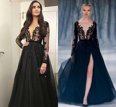 Paolo Sebastian 2016 collection looks amazing.I love the split and black color