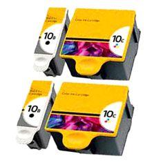 4 PACK OF Kodak compatible Ink Cartridge 10B 10C FOR Kodak printer