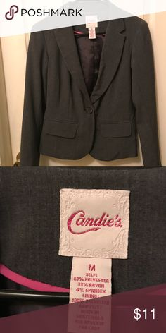 NWOT Gray women's suit jacket NWOT. I've never worn it because it's a size too big for me. Brand new condition. Feel free to make an offer ❤️❤️❤️ Candie's Jackets & Coats Blazers