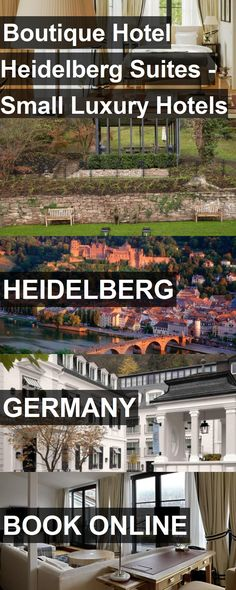Hotel Boutique Hotel Heidelberg Suites - Small Luxury Hotels of the World in Heidelberg, Germany. For more information, photos, reviews and best prices please follow the link. #Germany #Heidelberg #BoutiqueHotelHeidelbergSuites-SmallLuxuryHotelsoftheWorld #hotel #travel #vacation