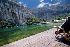 אגם ווליאגמני vouliagmeni Greece With Kids, Greece Islands, Jacuzzi, Dream Vacations, Athens, Places To Visit, River, Outdoor, Instagram