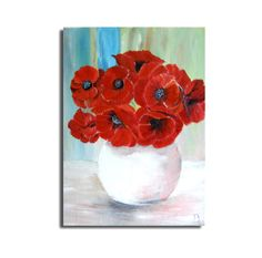POPPIES PAINTING,oil painting,unique canvas, 12x16in, flowers painting, gift idea, art, wall decor, flowers art, free shipping by oilpaintingflowers on Etsy https://www.etsy.com/listing/107034973/poppies-paintingoil-paintingunique