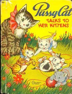 1946 Pussy Cat Talks to Her Kittens, Fannie Mead | eBay