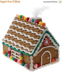 40% OFF Gingerbread House Crochet Christmas Pattern PDF Download Gourmet Crochet