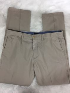 J Crew Lightweight Chino 484 Fit Size 32 30 Khaki Pants Flat Front 100% Cotton   | eBay
