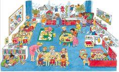 TOUCH this image: interactieve praatplaat: Thema naar school by Nancy Derks-Kooistra I Love School, School Days, Back To School, Organisation Administrative, School Pictures, Toddler Preschool, Teaching English, Kids Learning, Storytelling