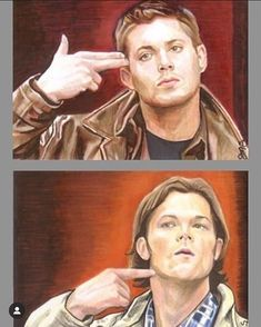 """x inch sketch cards of Dean & Sam from """"Supernatural"""". Supernatural Drawings, Supernatural Fan Art, Winchester Brothers, Sam Winchester, Winchester Supernatural, Theme Song, Superwholock, True Beauty, On Set"""
