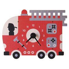 Modern Moose Fire Truck Wall Clock