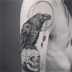 kuzgun kol dövmeleri erkek raven arm tattoos for men