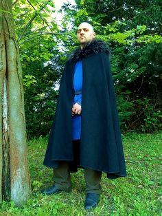 Made to order - Viking Fake fur Cloak Larp Grv Dreamcatcher Eye Creations